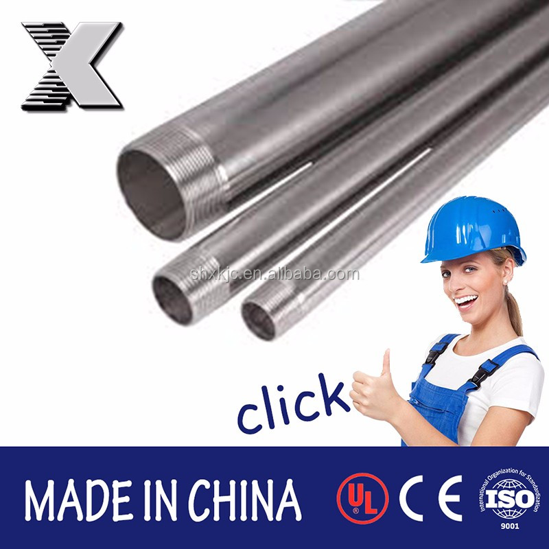 steel hot dip galvanized female thread stainless steel flexible metal tube