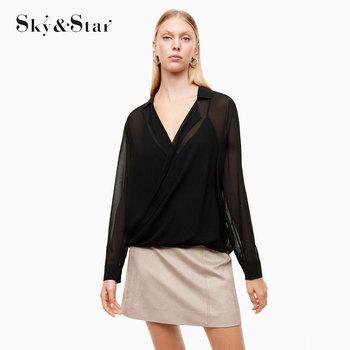 2018 Modelo De Blusa Com Decote Em V Modelos Mulher Nighty Transparente Blusa De Chiffon Para Senhora Buy Blusa De Mulherblusa De Chiffonblusa Da