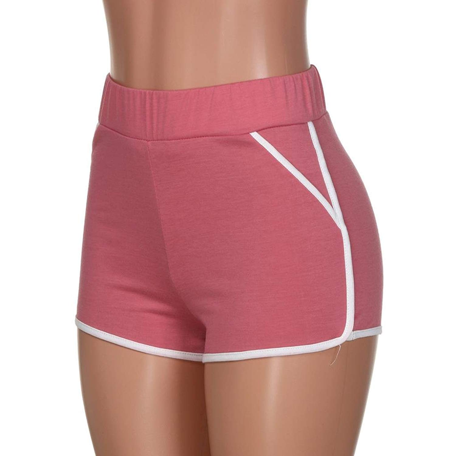 kingfansion Shorts for Womens Summer Pants Women Sports Shorts Gym Workout Waistband Yoga Running Shorts