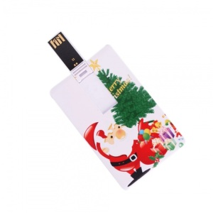 Bulk Cheap Christmas Gift Plastic Card USB Flash Drive 512MB with Custom Logo