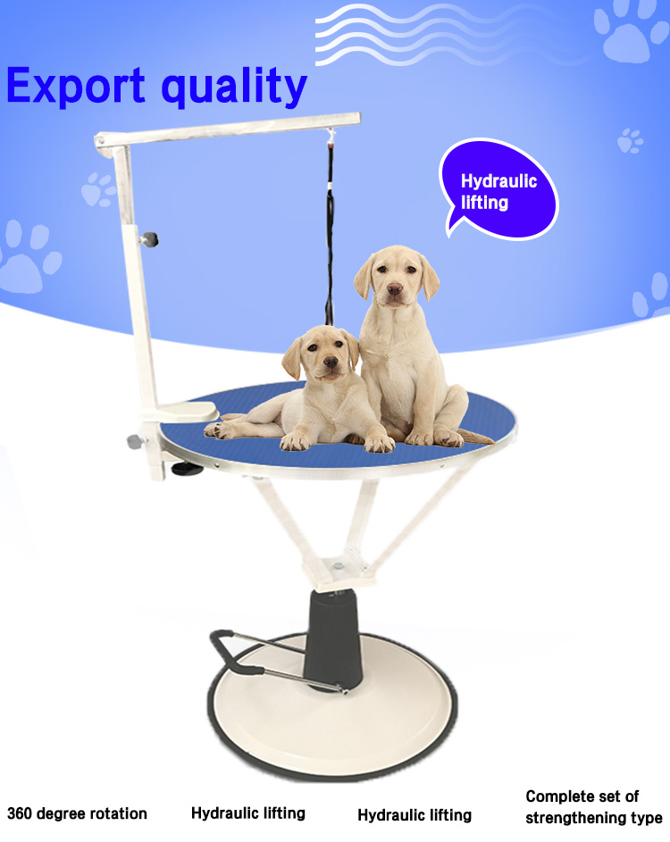 Adjustable Hydraulic Dog Round Grooming Table pet grooming table