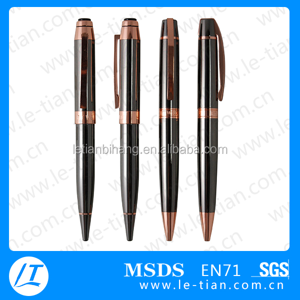 Wholesale simple design copper ball pen brass ballpoint pen with logo for promotion