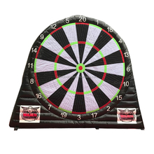 sport inflatable football dart board shooting game
