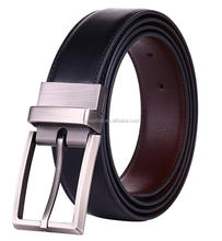 Guangzhou Factory Wholesale Fashion Design with removable buckles/Genuine Leather Belts handmade leather productbelt for men