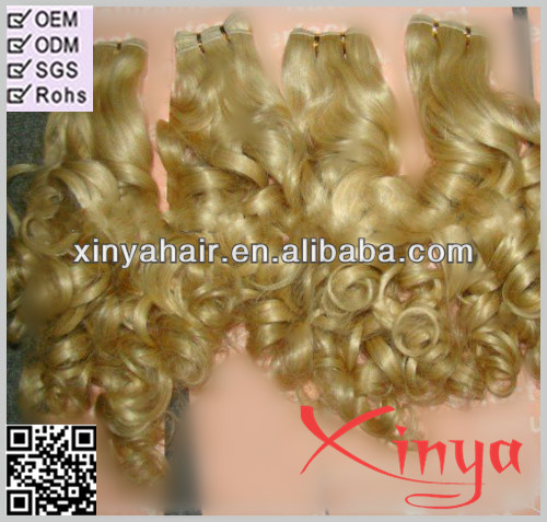 Honey Natural thick bottom full cuticle tight weft european blonde virgin remy hair