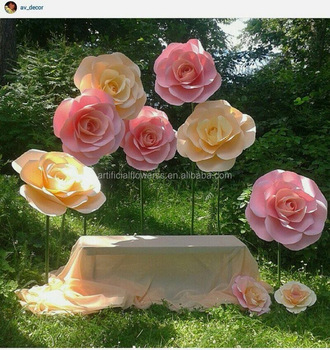 Wholesale backdrop large rose giant paper flower for wedding wall wholesale backdrop large rose giant paper flower for wedding wall decoration mightylinksfo