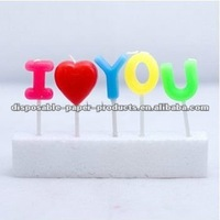 Wholesale I LOVE YOU Candles Party Cake Candles