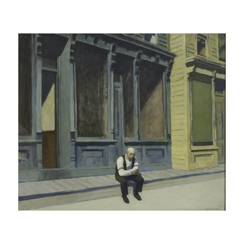 Free Shipping Edward Hopper Giclee Canvas Print Paintings Poster Reproduction Fine Art Wall Decor(Sunday)