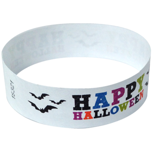 Factory Wholesale Customized Tyvek Paper Wristband Cheap Halloween Carnival Souvenirs Halloween Party Giveaways