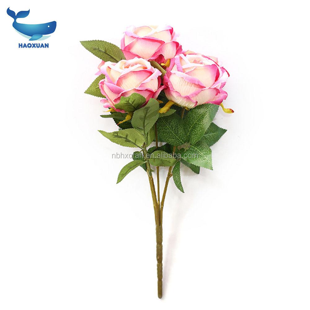 Mzc0030 Haoxuan Silk Roses Bulk Artificial Flowers Wholesale Fake