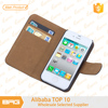 BRG Best Selling Cheap Price Leather Stand Case For iPhone4