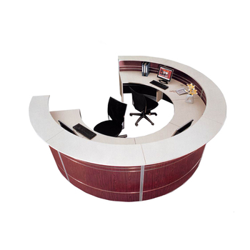 modern office counter table. Modern Office Counter Reception Table Design Half-Round Front Desk For Two People