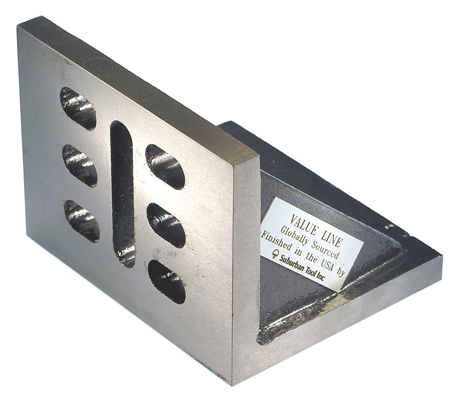 Value Line 6 x 5 x 4 Slotted Angle Plate - Webbed - Machined