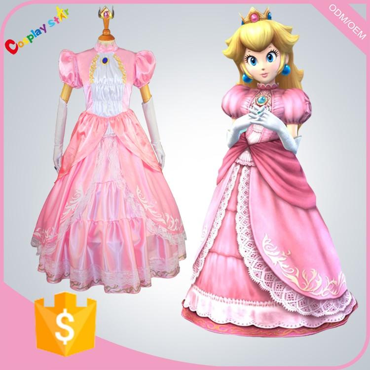 Baby costume princess peach super mario costume halloween - Princesse dans mario ...