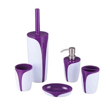 5 Pieces Plastic Bathroom Accessory Set