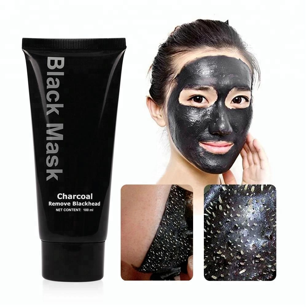 Organische Gezichtsmasker Huidverzorgingsproducten Diepe Gezichtsreiniging Comedondrukker Activated Houtskool Masker Peel Off Black Mask