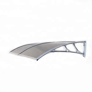 Polycarbonate half round waterproofing awning for ATM machine