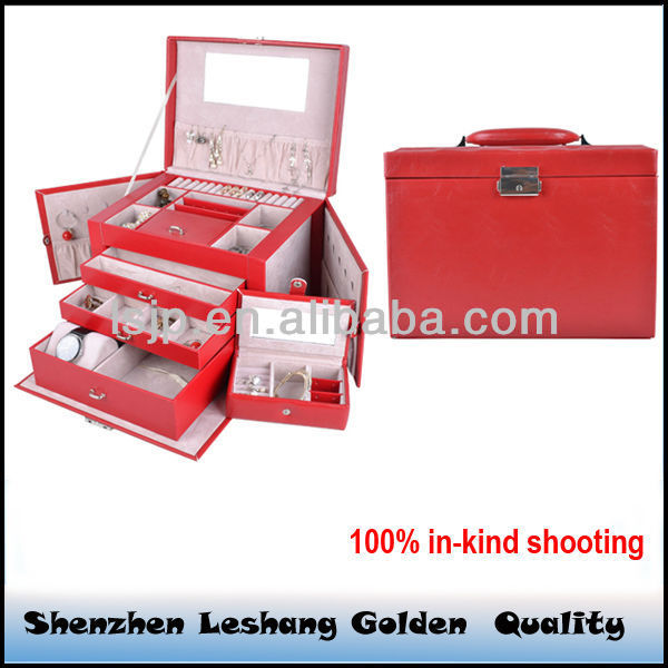 Custom PU Leather jewellery box manufacturer &pyramid jewelry boxes