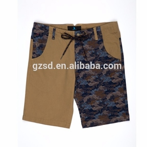 Hot sale cheap summer jacquard style mens chino shorts with inner brief