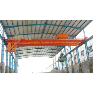10 Ton double Girder Overhead Grab Crane for fired power station