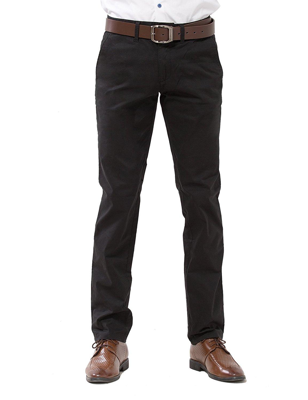 HTOOHTOOH Mens Wrinkle-Free Slim-Tapered Stretch Casual Pants Suit Pants