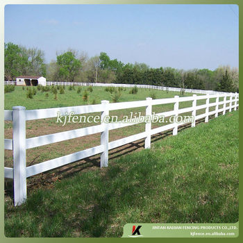 3 Rail Pvc Vinyl White Color Paddock Fence Buy 3 Rail