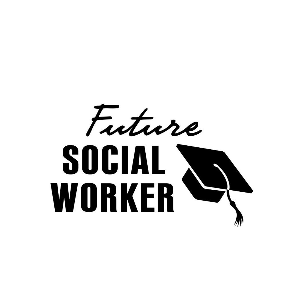 ShirtMania FUTURE SOCIAL WORKER Career Occupation Car Laptop Wall Sticker