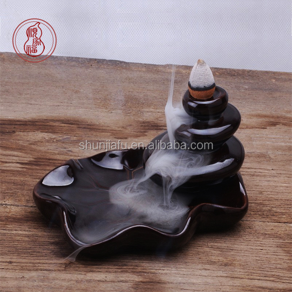 Handmade Ceramic Incense Burner Holder Backflow Incense