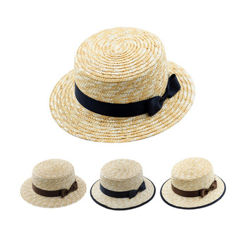 Wholesale flat top mens straw boater hat customized farmer straw hat for  malaysia 83be14971db