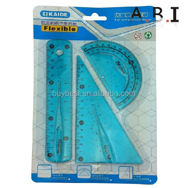all kinds of colorful practical plastic flexible scale ruler