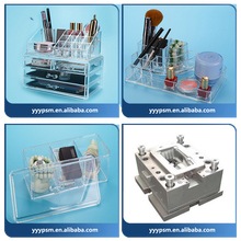 Professional Customized Slap-up plastic Acrylic Dressing Case/ Injection molding transparent cosmetic boxplastic injection mould