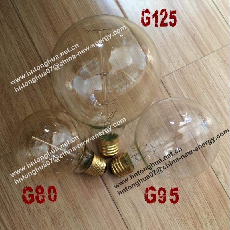 G80 G95 G125 Globe Light Bulb Antique Vintage Edison Bulb Carbon ...