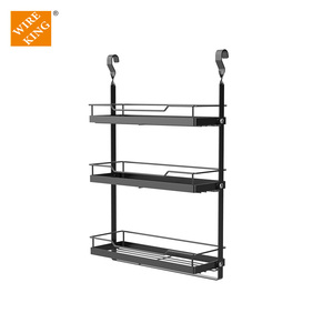 Wireking Household Kitchen Storage Metal Rack Folding Series Kitchen Hanging Rack