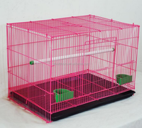 Large wire mesh folding bird cage