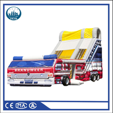 Fire truck adventure Giant outdoor inflatable castle