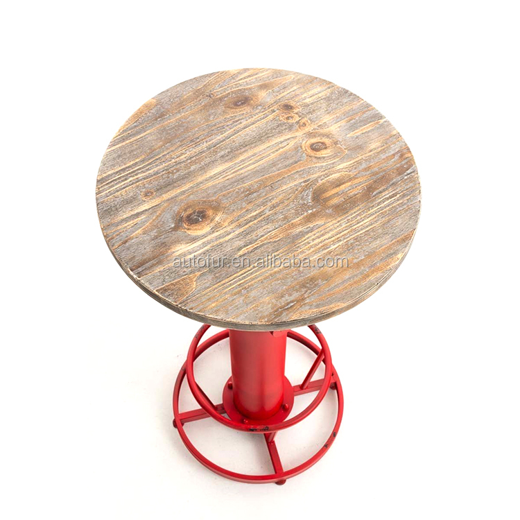 New arrival industrial wooden top high coffee bar table