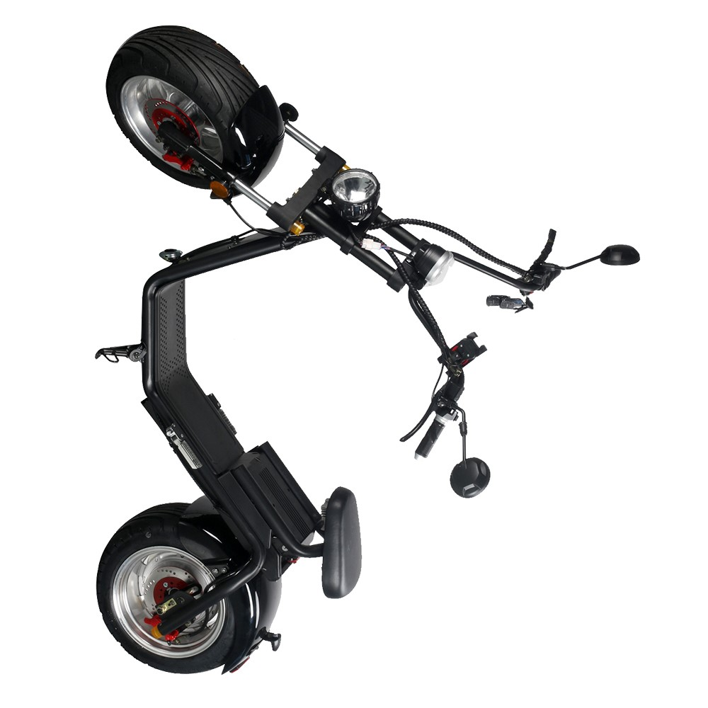 PUGGI street legal citycoco with double seat and mirrors , two wheel electric scooter for adults