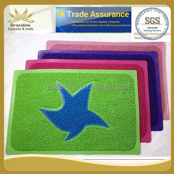 PVC joint door mat colorful vinyl loop mat