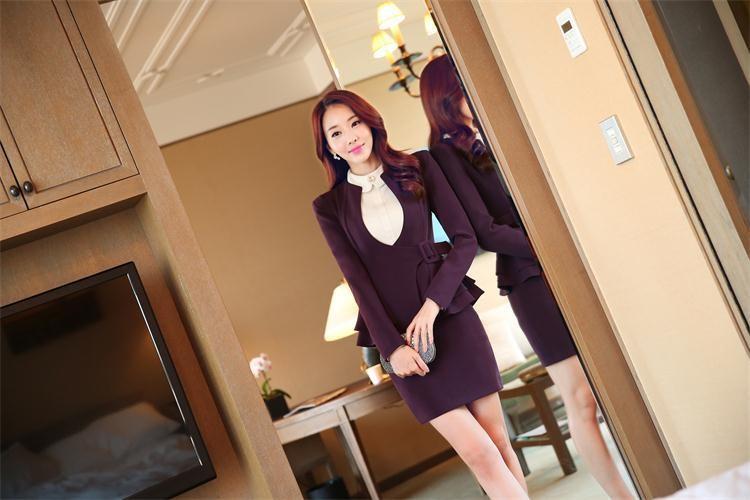 2f83efd359 Gaobu novo modelo estilo coreano projetos uniformes escritório moderno  mulheres saia ternos