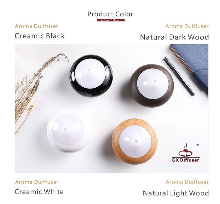 2018 pureness type indoor gx-02k wooden fea aroma essential oil diffuser private label design