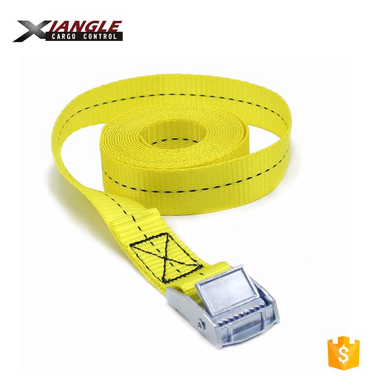 1 inch 25mm High Quality Cargo Cam Buckle Type Tie Down Lashing Strap Cargo Lash Luggage Nylon Bag Belt Metal Buckle