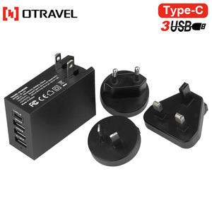 2018 electronic mobile devices Fast Type C travel charger 4 port usb charger
