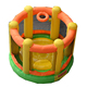 mini bouncy house inflatable jumping moonwalk castle for kids