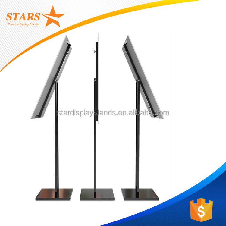 Stainless Steel Outdoor Poster Stand , Rotating Floor Display Stand