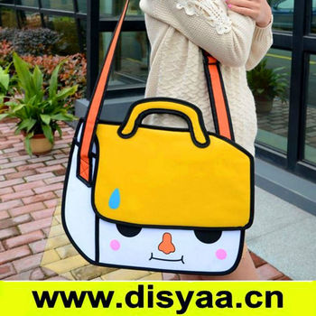 2d bag change 3d handbag Fashion lady designer handbag