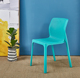 BAIWAN dining room furniture hot selling modern simple plastic dining chair Luxury PP color plastic dining chair