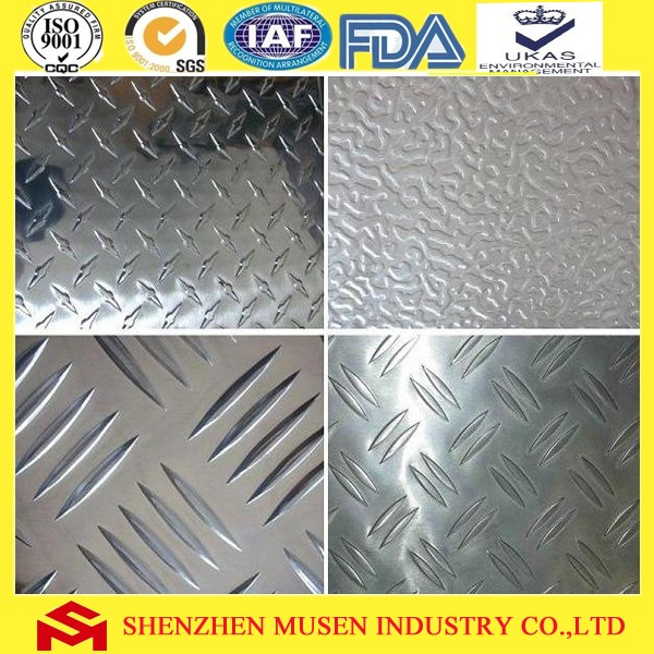 Mirror Checked embossed metal aluminum sheet