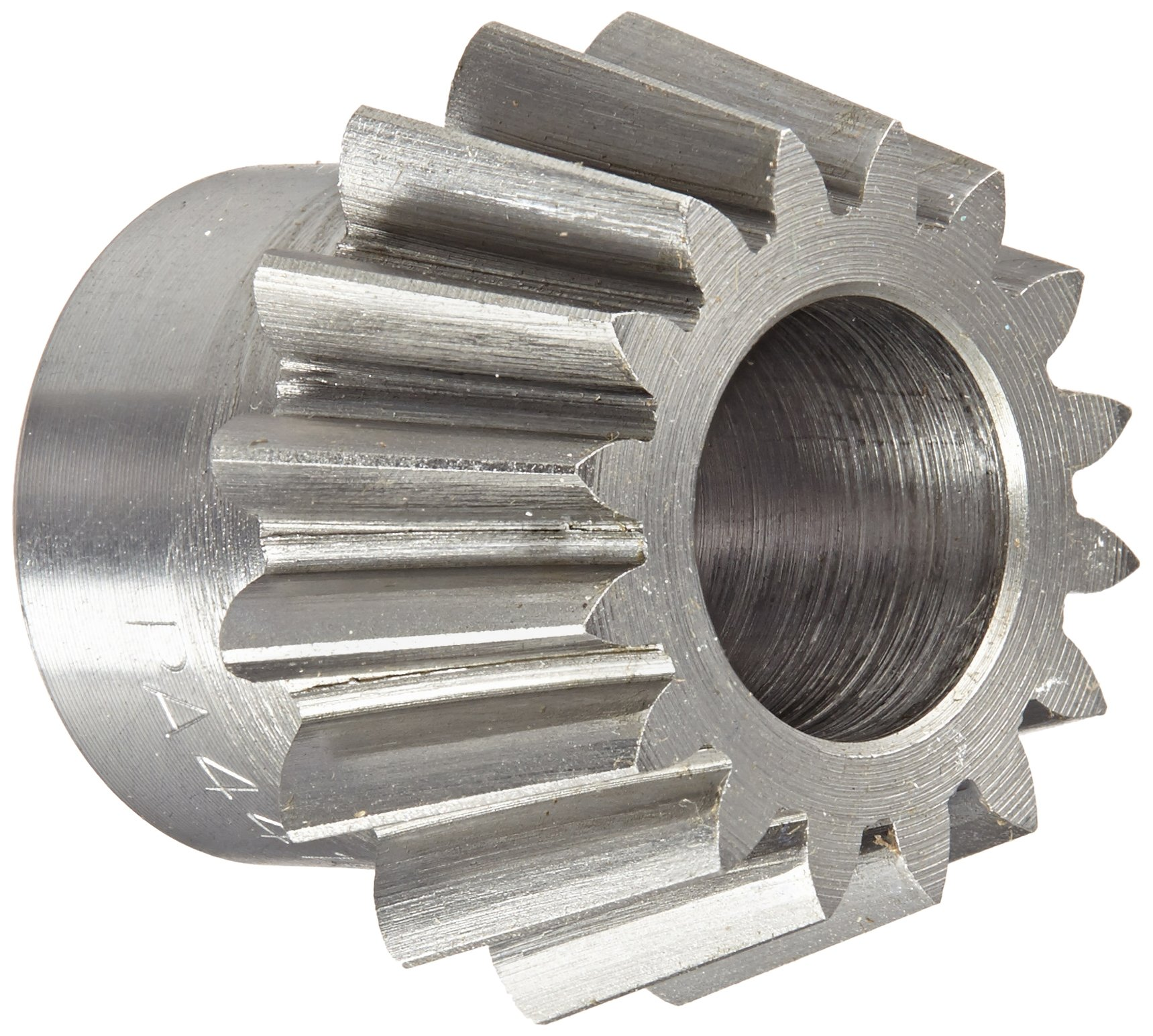 "Boston Gear PA4416Y-P Bevel Pinion Gear, 4:1 Ratio, 0.500"" Bore, 16 Pitch, 16 Teeth, 20 Degree Pressure Angle, Straight Bevel, Steel"