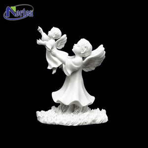Exquisite carving outdoor marble stone angel statues NTMS-353Y