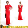 elegant latest long red prom backless evening dress designs for lady